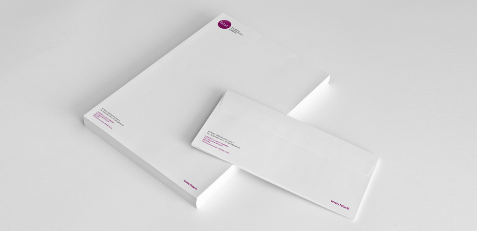 Papeterie, tête de lettres et carte de correspondance