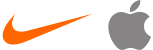 2 logos iconiques, Nike et Apple
